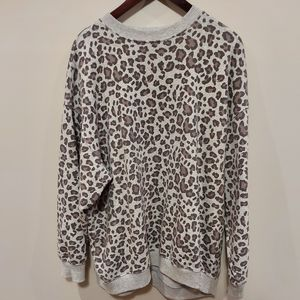 AE Oversized animal print sweater. Size XS